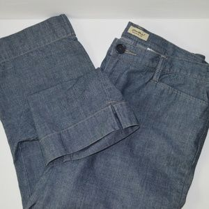 Eddie Bauer Blue Denim Wash Ankle Pant Sz 14